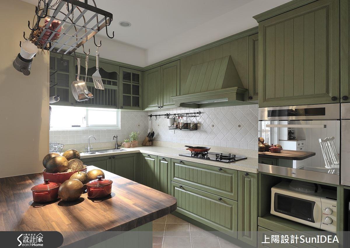 35坪老屋(16~30年)_鄉村風廚房案例圖片_上陽室內設計_上陽_13之13
