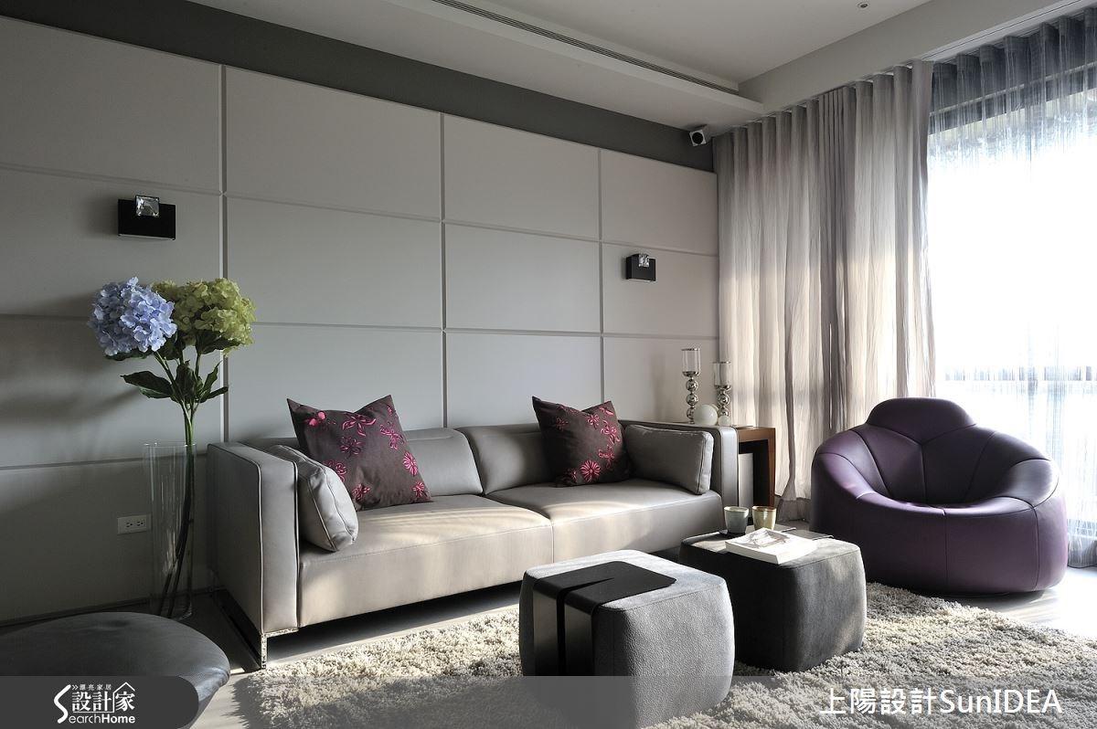 45坪新成屋(5年以下)_現代風客廳案例圖片_上陽室內設計_上陽_15之2