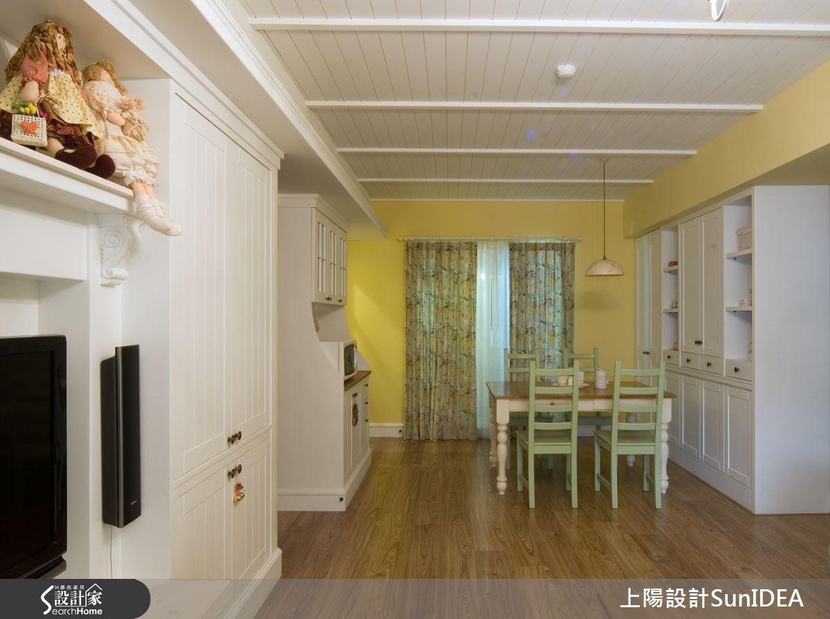 30坪新成屋(5年以下)_鄉村風餐廳案例圖片_上陽室內設計_上陽_02之3