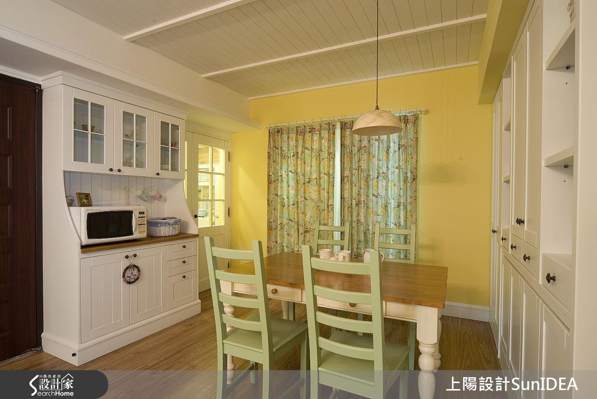 30坪新成屋(5年以下)_鄉村風餐廳案例圖片_上陽室內設計_上陽_02之4