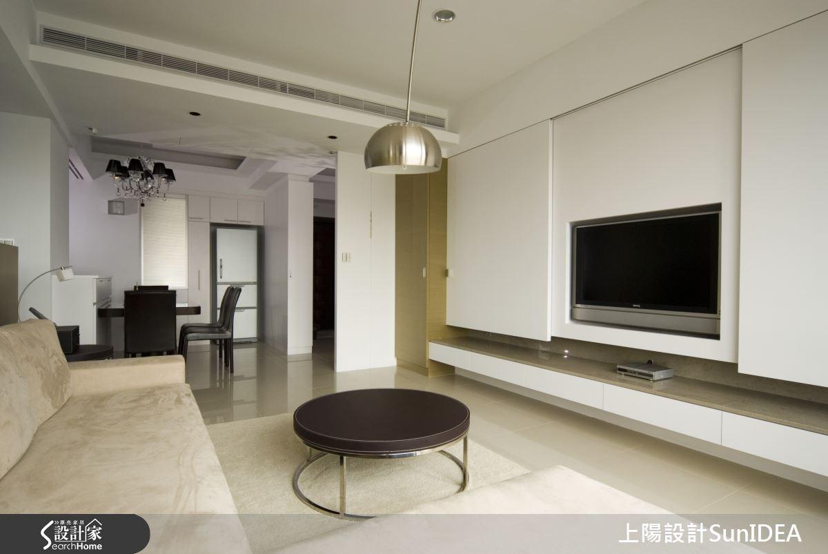 35坪新成屋(5年以下)_簡約風客廳案例圖片_上陽室內設計_上陽_03之1