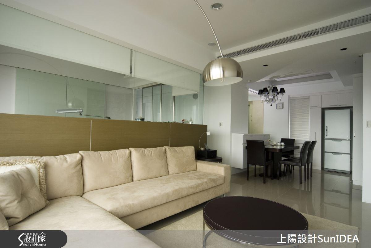 35坪新成屋(5年以下)_簡約風客廳餐廳案例圖片_上陽室內設計_上陽_03之2