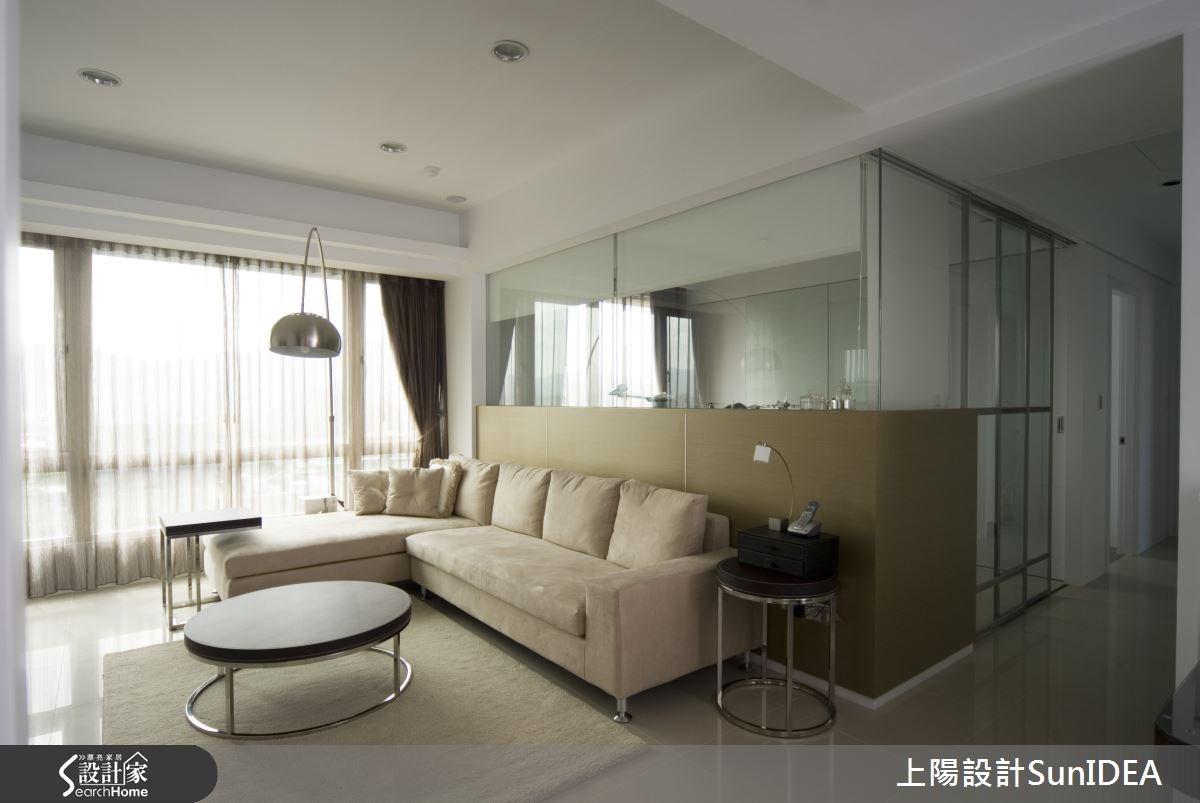 35坪新成屋(5年以下)_簡約風客廳案例圖片_上陽室內設計_上陽_03之3