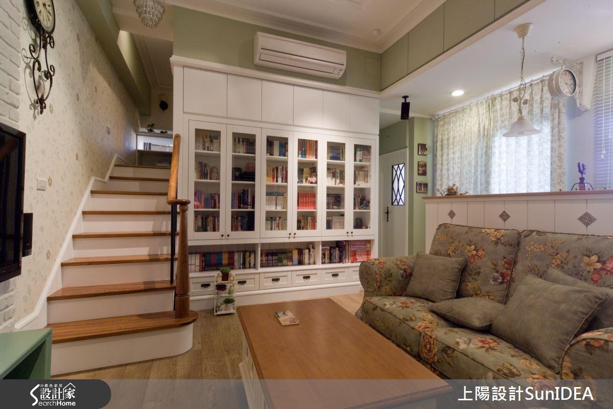 15坪新成屋(5年以下)_鄉村風客廳樓梯案例圖片_上陽室內設計_上陽_11之5