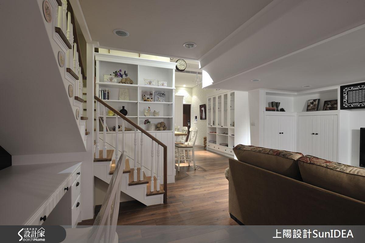 18坪新成屋(5年以下)_鄉村風樓梯案例圖片_上陽室內設計_上陽_16之2