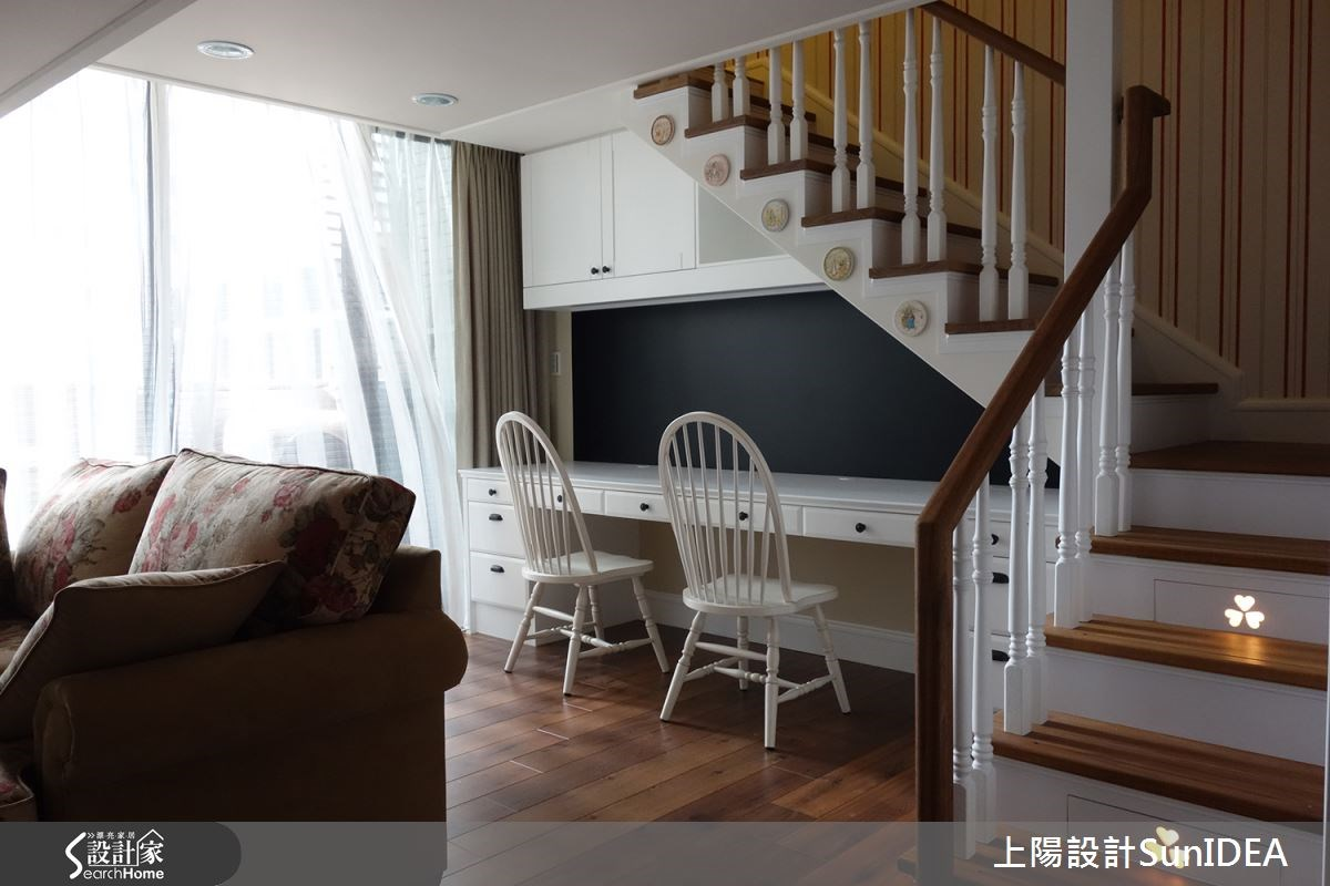 18坪新成屋(5年以下)_鄉村風書房樓梯案例圖片_上陽室內設計_上陽_16之3
