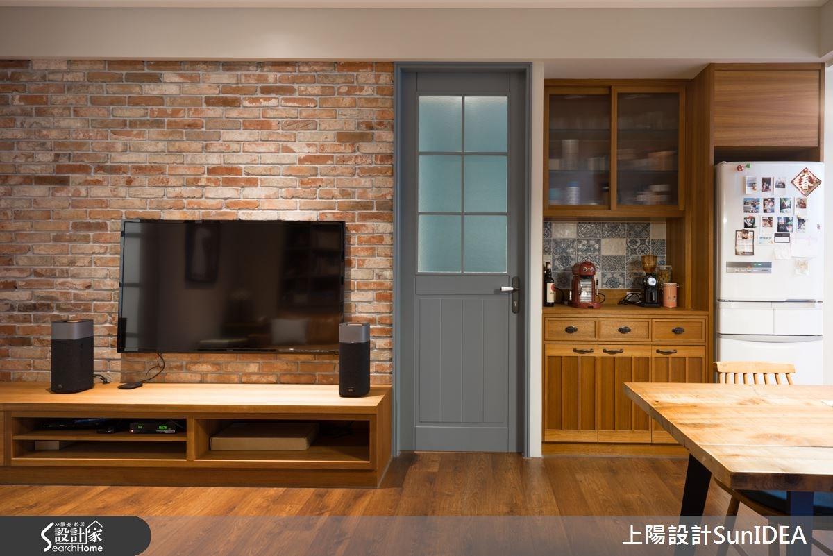25坪新成屋(5年以下)_鄉村風客廳案例圖片_上陽室內設計_上陽_18之5