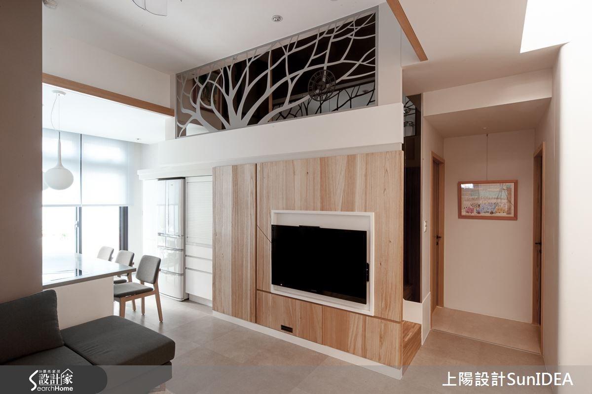 28坪新成屋(5年以下)_現代風客廳案例圖片_上陽室內設計_上陽_20之1