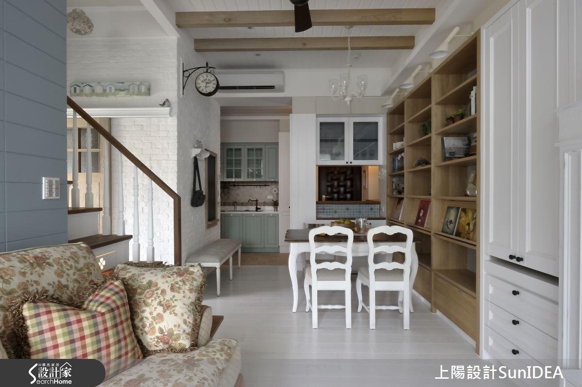 14坪新成屋(5年以下)_鄉村風客廳餐廳廚房案例圖片_上陽室內設計_上陽_22之4