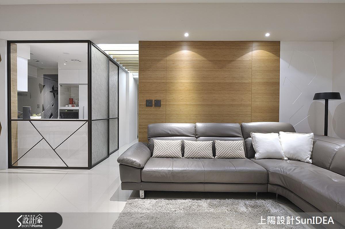 45坪新成屋(5年以下)_現代風客廳案例圖片_上陽室內設計_上陽_24之2