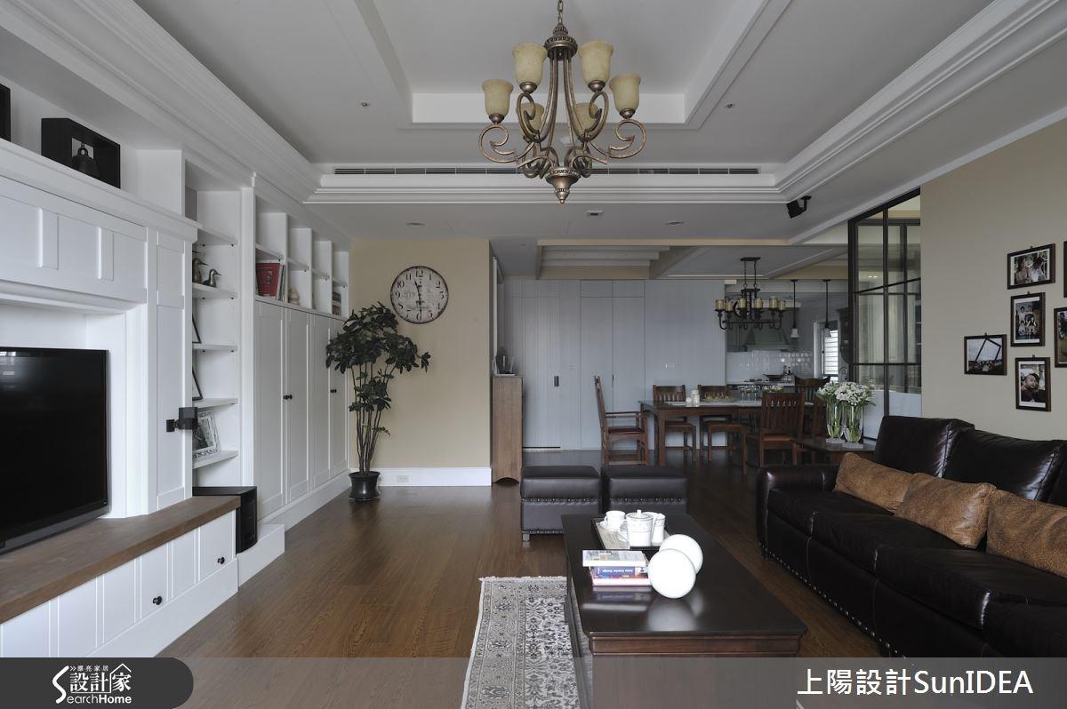 50坪新成屋(5年以下)_美式風客廳案例圖片_上陽室內設計_上陽_25之1