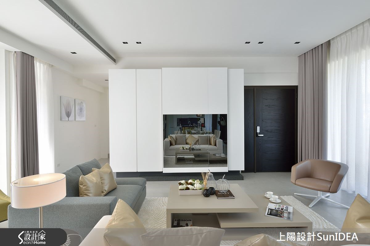 65坪新成屋(5年以下)_現代風玄關客廳案例圖片_上陽室內設計_上陽_26之2