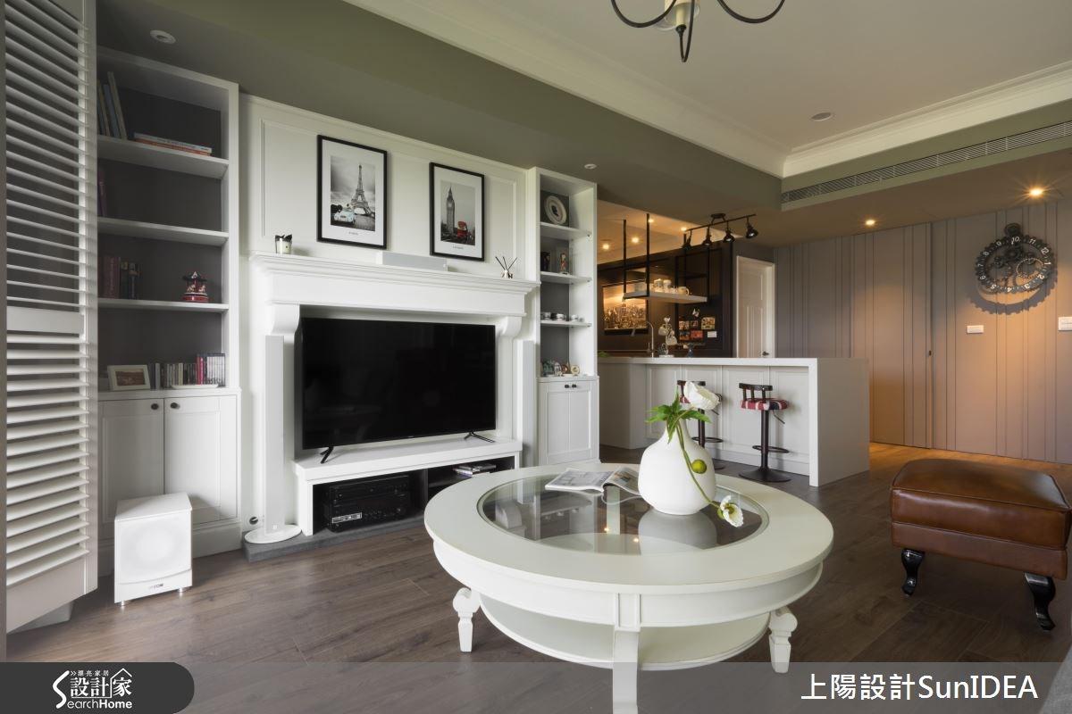 26坪新成屋(5年以下)_美式風客廳吧檯案例圖片_上陽室內設計_上陽_29之4