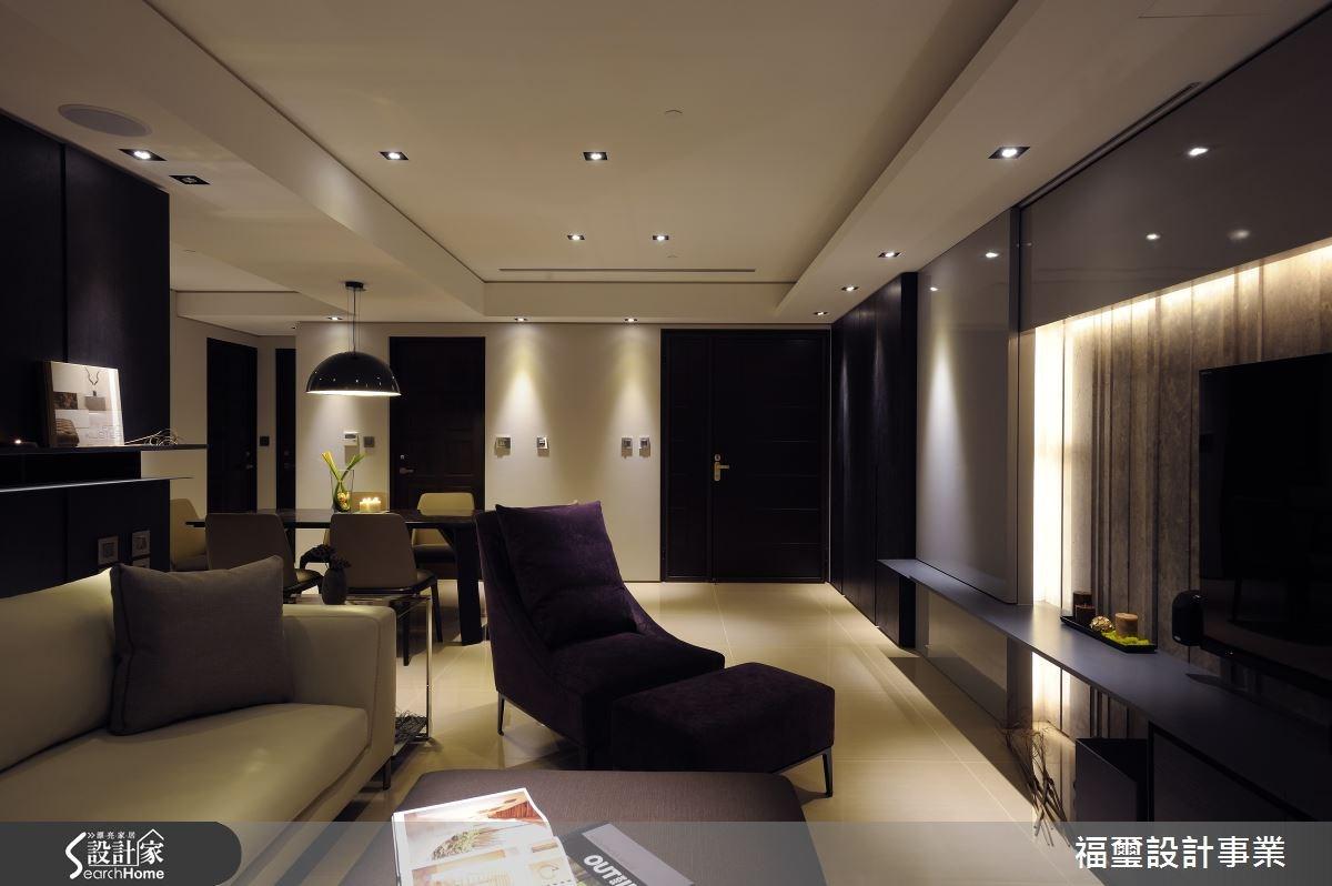 26坪新成屋(5年以下)_現代風客廳餐廳案例圖片_福璽設計事業_福璽_02之2