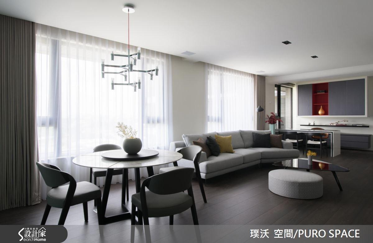 50坪新成屋(5年以下)_新中式風餐廳案例圖片_璞沃 空間/PURO SPACE_璞沃_05之6