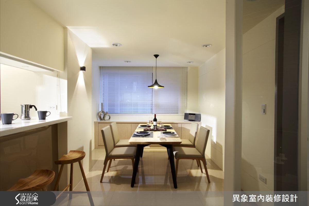 35坪新成屋(5年以下)_混搭風餐廳吧檯案例圖片_異象室內裝修設計有限公司_異象_01之7