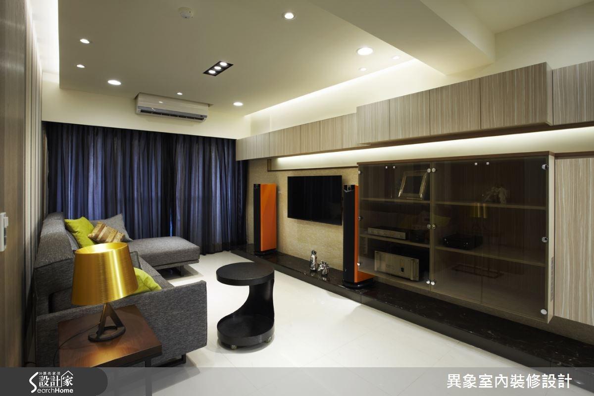 24坪新成屋(5年以下)_混搭風客廳案例圖片_異象室內裝修設計有限公司_異象_02之2