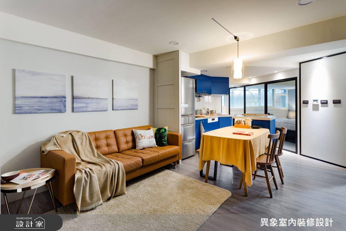 老屋(31~40年)_現代風客廳案例圖片_異象室內裝修設計有限公司_異象_07之3