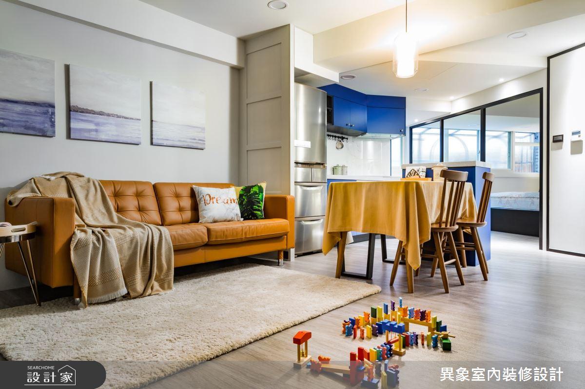 老屋(31~40年)_現代風客廳案例圖片_異象室內裝修設計有限公司_異象_07之4