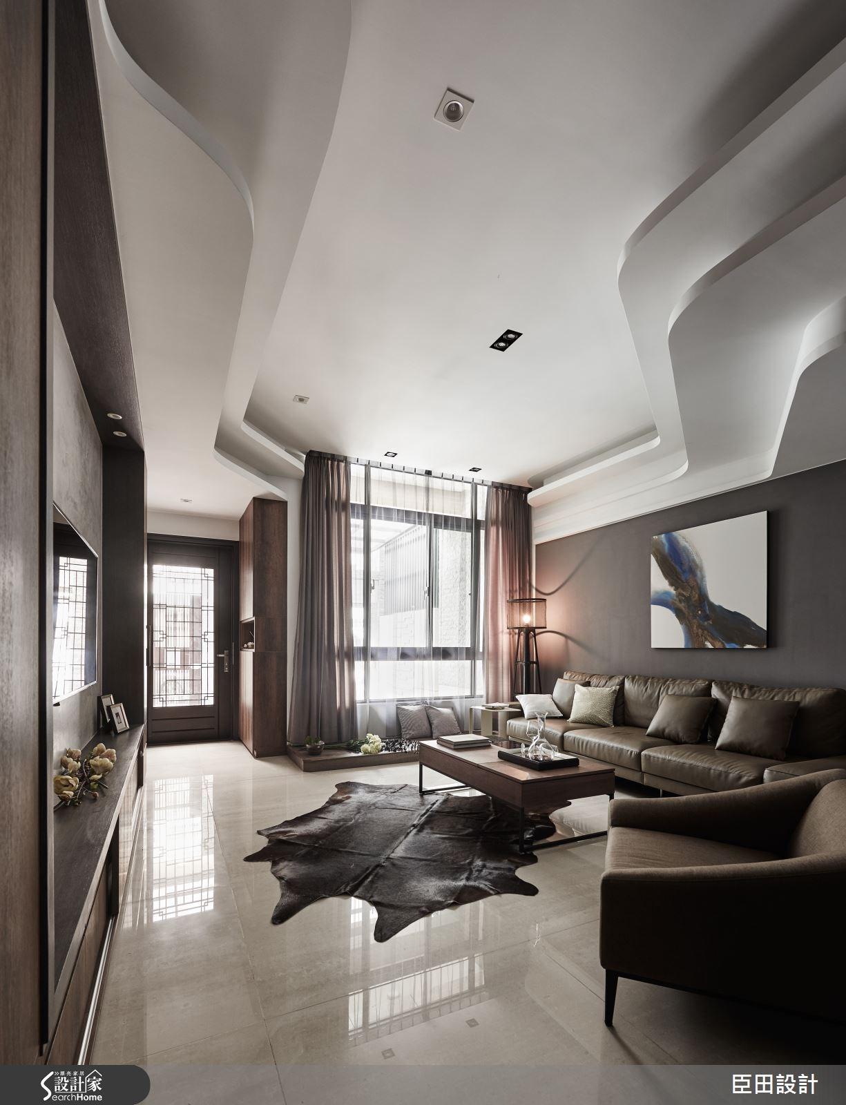 30坪新成屋(5年以下)_現代風客廳案例圖片_臣田設計_臣田_01之2