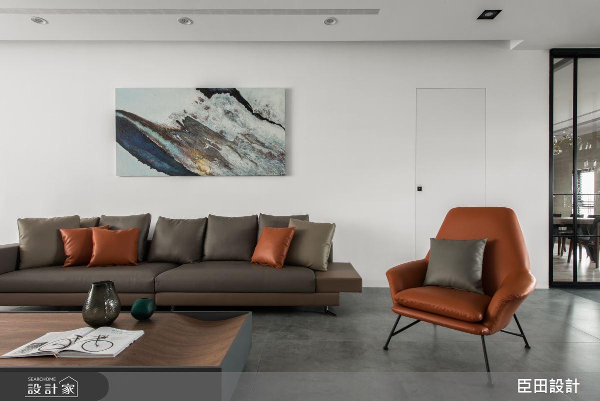 70坪新成屋(5年以下)_北歐風客廳案例圖片_臣田設計_臣田_07之2