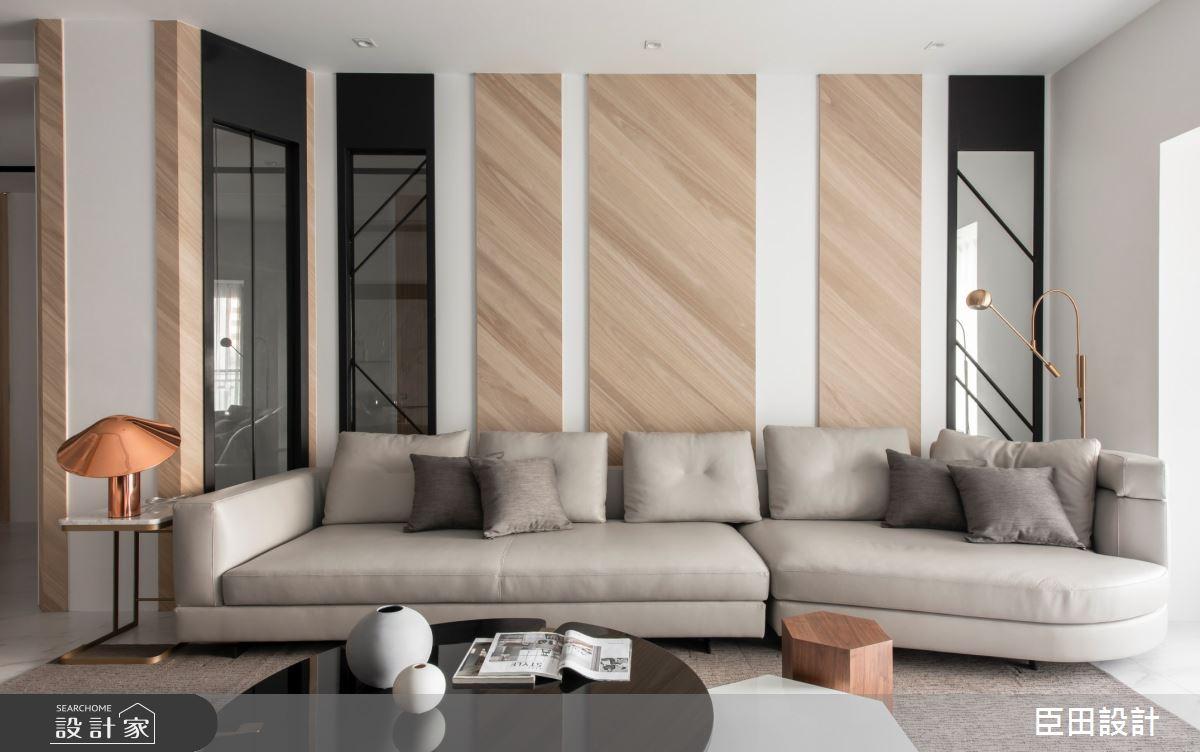 42坪新成屋(5年以下)_現代風客廳案例圖片_臣田設計_臣田_13之12