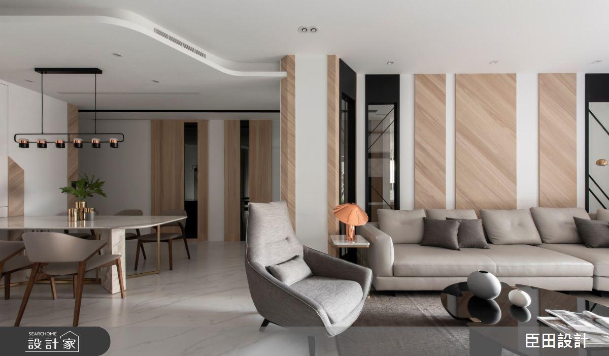 42坪新成屋(5年以下)_現代風客廳餐廳案例圖片_臣田設計_臣田_13之7