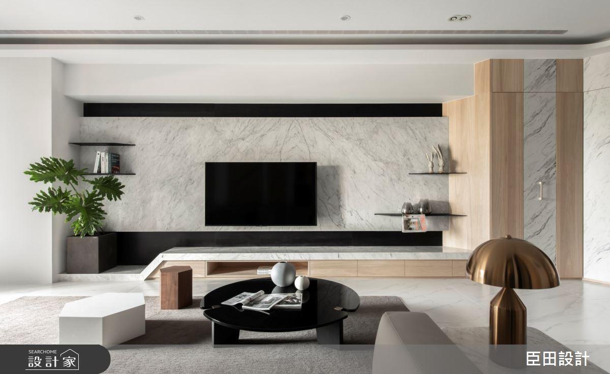 42坪新成屋(5年以下)_現代風客廳案例圖片_臣田設計_臣田_13之13