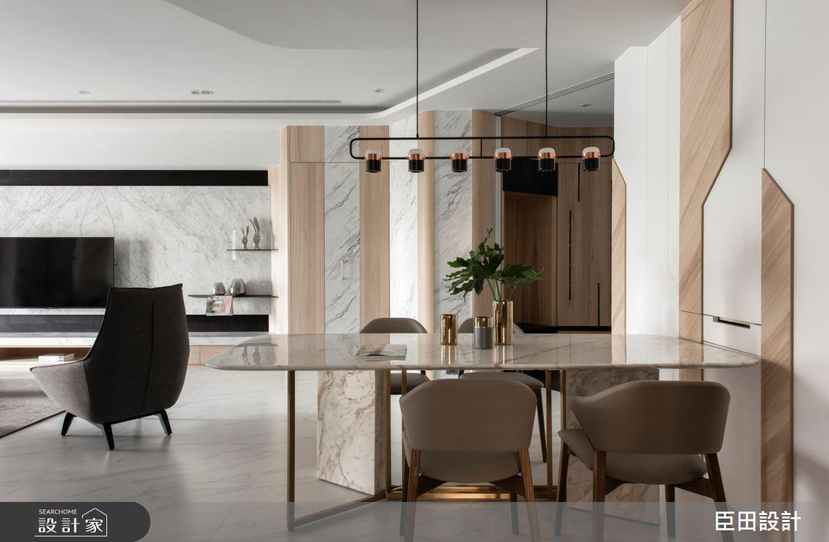 42坪新成屋(5年以下)_現代風餐廳案例圖片_臣田設計_臣田_13之6
