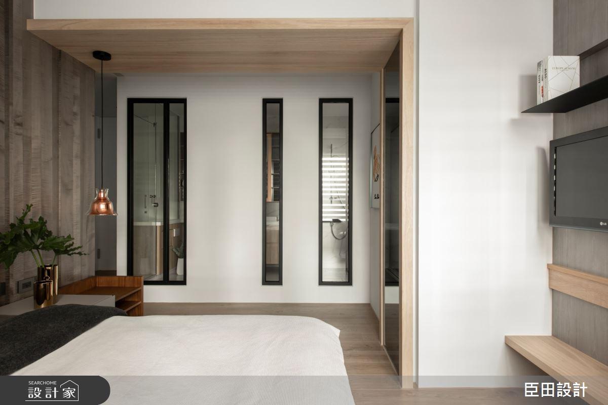 42坪新成屋(5年以下)_現代風臥室案例圖片_臣田設計_臣田_13之17