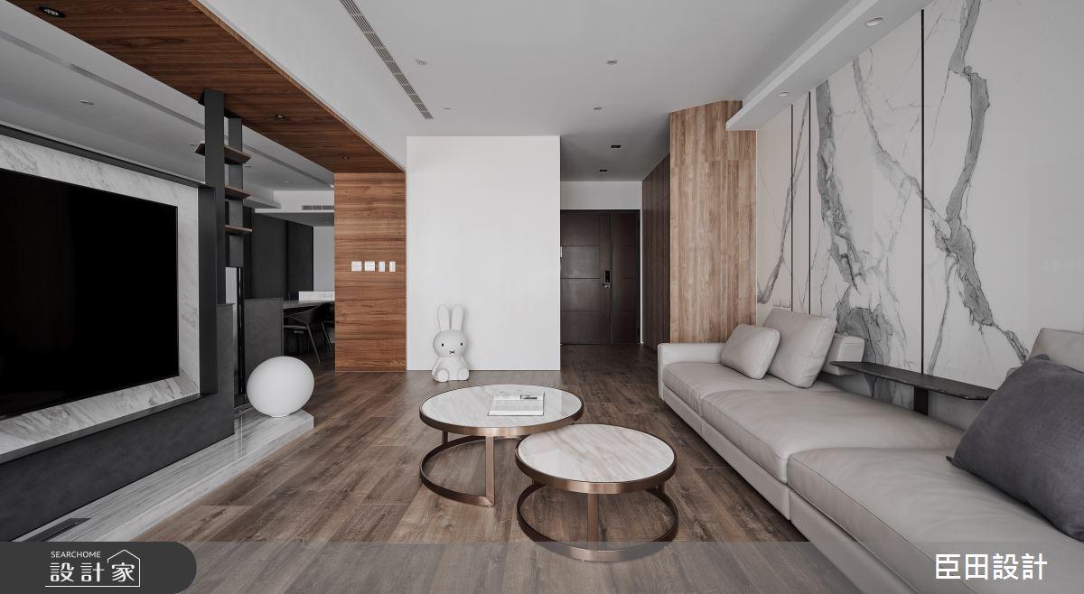 30坪新成屋(5年以下)_現代風客廳案例圖片_臣田設計_臣田_15之4