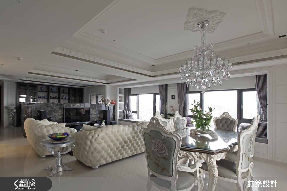 60坪新成屋(5年以下)_新古典客廳餐廳案例圖片_蒔築設計有限公司_蒔築_09之8
