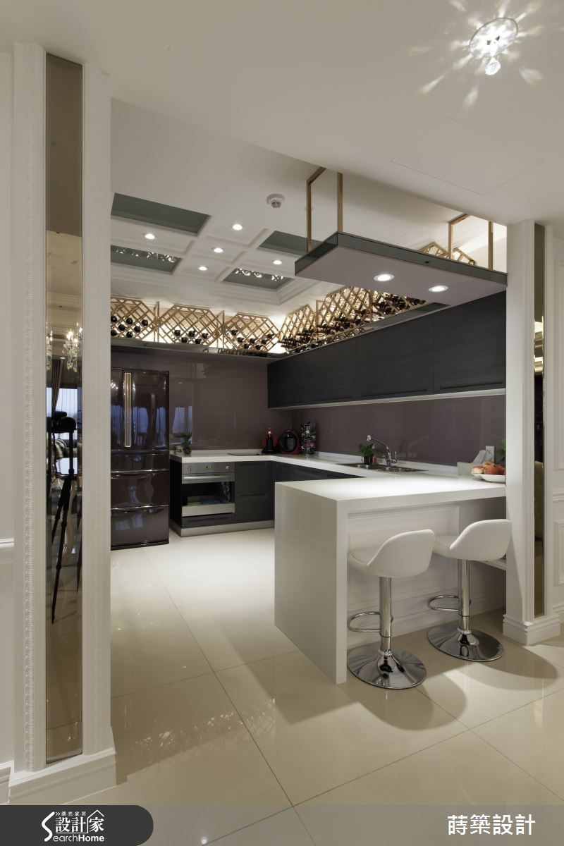 60坪新成屋(5年以下)_新古典廚房吧檯案例圖片_蒔築設計有限公司_蒔築_09之12