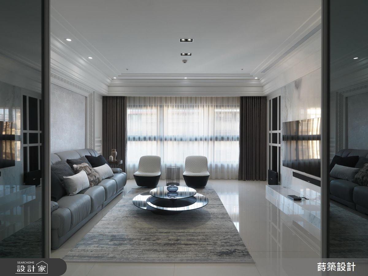 55坪新成屋(5年以下)_新古典客廳案例圖片_蒔築設計有限公司_蒔築_26之2
