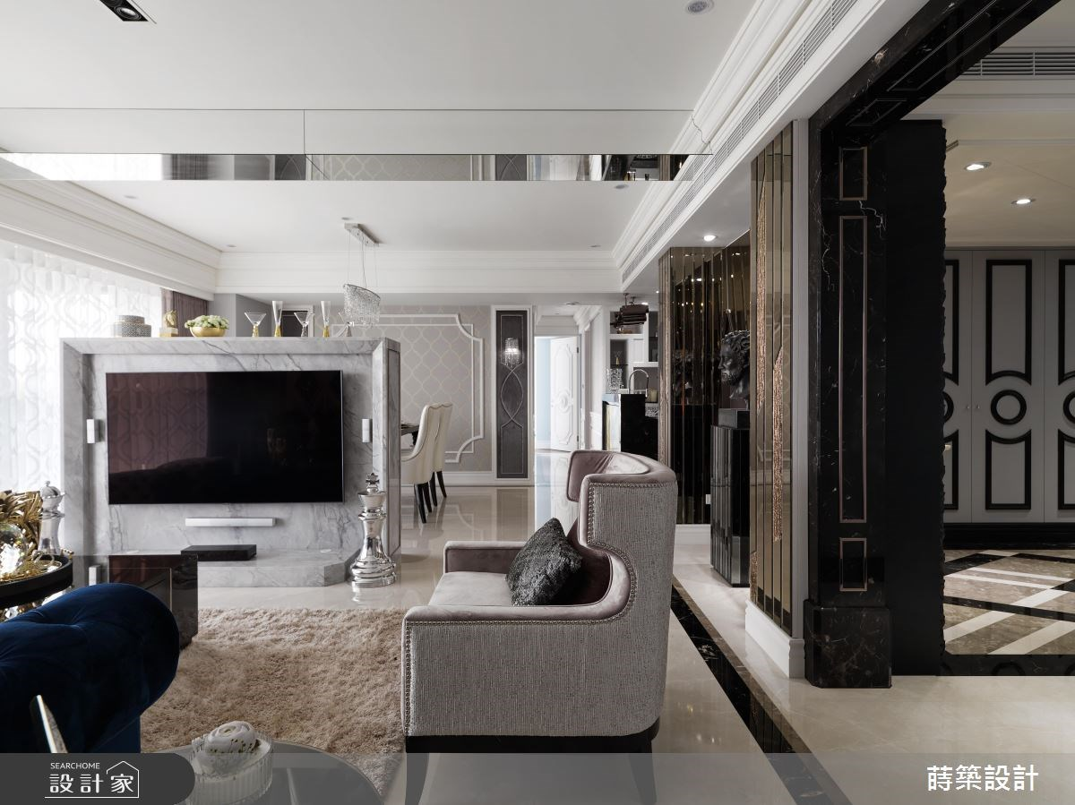 50坪新成屋(5年以下)_新古典客廳案例圖片_蒔築設計有限公司_蒔築_31之3