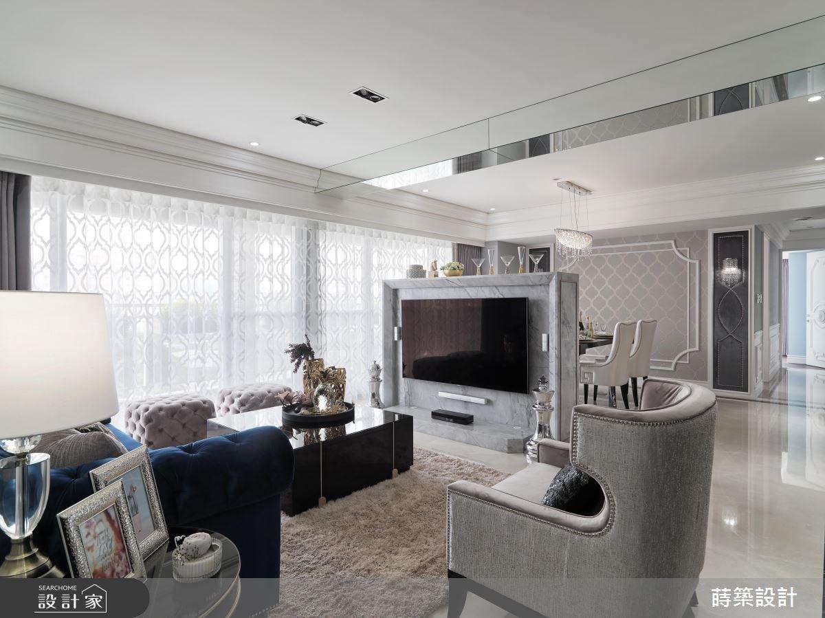 50坪新成屋(5年以下)_新古典客廳案例圖片_蒔築設計有限公司_蒔築_31之4