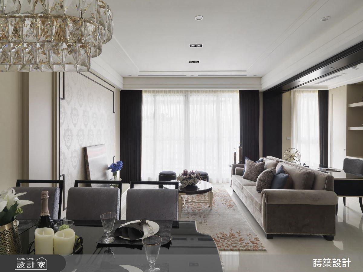 40坪新成屋(5年以下)_新古典客廳案例圖片_蒔築設計有限公司_蒔築_40之4