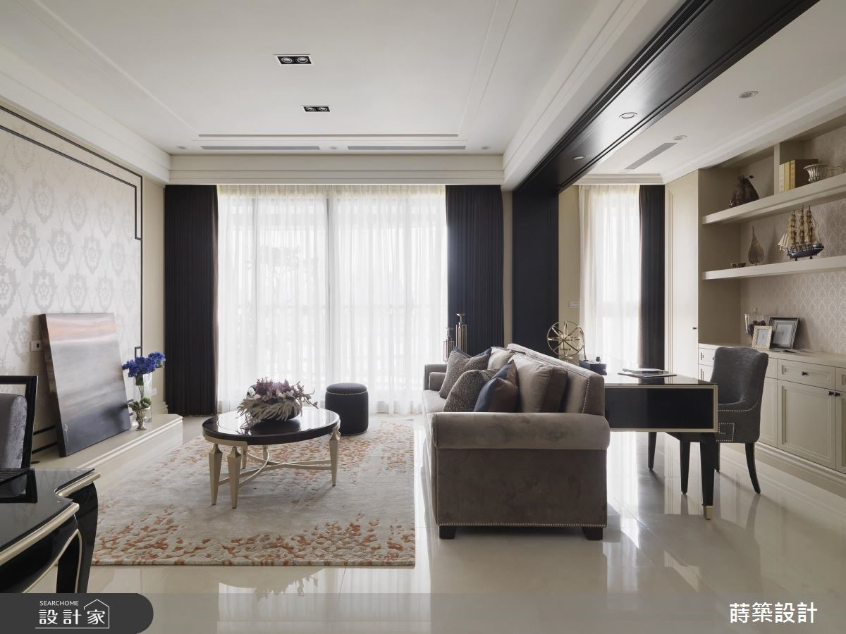 40坪新成屋(5年以下)_新古典客廳書房案例圖片_蒔築設計有限公司_蒔築_40之5