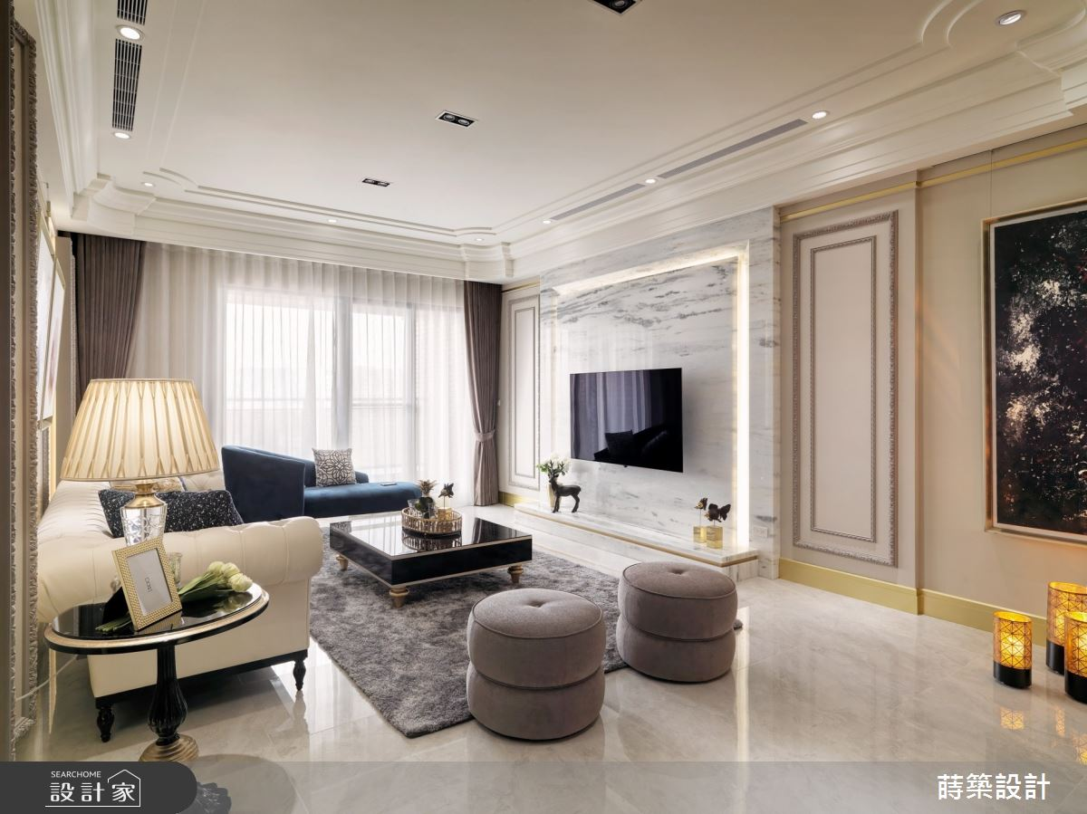 52坪新成屋(5年以下)_新古典客廳案例圖片_蒔築設計有限公司_蒔築_42之3