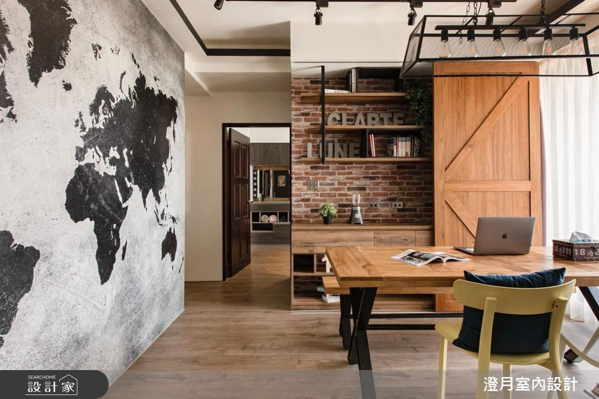 25坪新成屋(5年以下)_工業風餐廳案例圖片_澄月室內設計_澄月_01之3