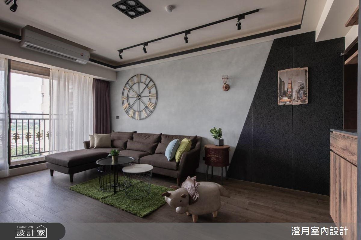 25坪新成屋(5年以下)_工業風客廳案例圖片_澄月室內設計_澄月_01之1