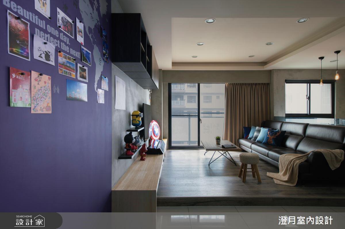 22坪新成屋(5年以下)_工業風客廳案例圖片_澄月室內設計_澄月_03之2