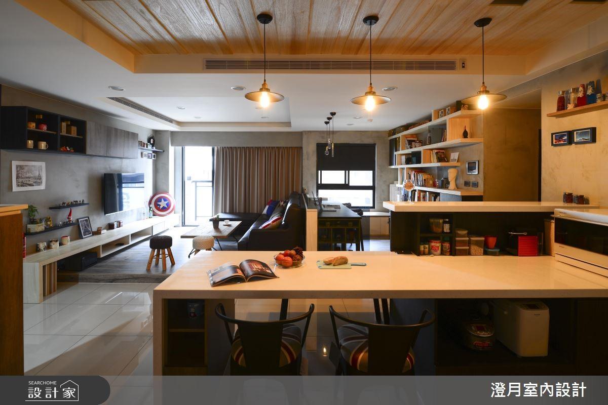 22坪新成屋(5年以下)_工業風餐廳案例圖片_澄月室內設計_澄月_03之4