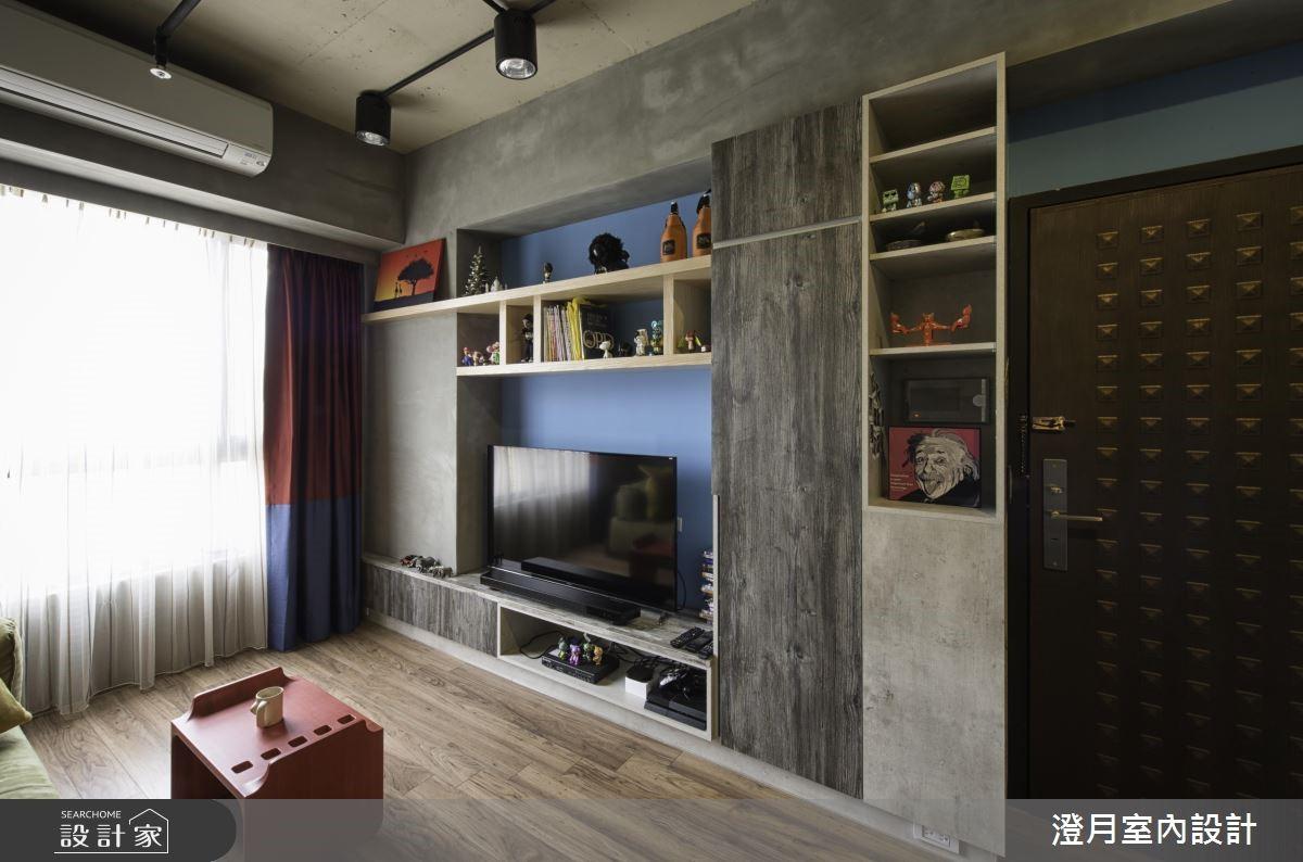 16坪新成屋(5年以下)_工業風客廳案例圖片_澄月室內設計_澄月_04之3