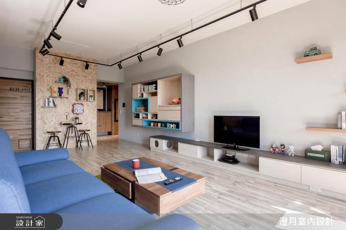 25坪新成屋(5年以下)_工業風客廳案例圖片_澄月室內設計_澄月_05之4
