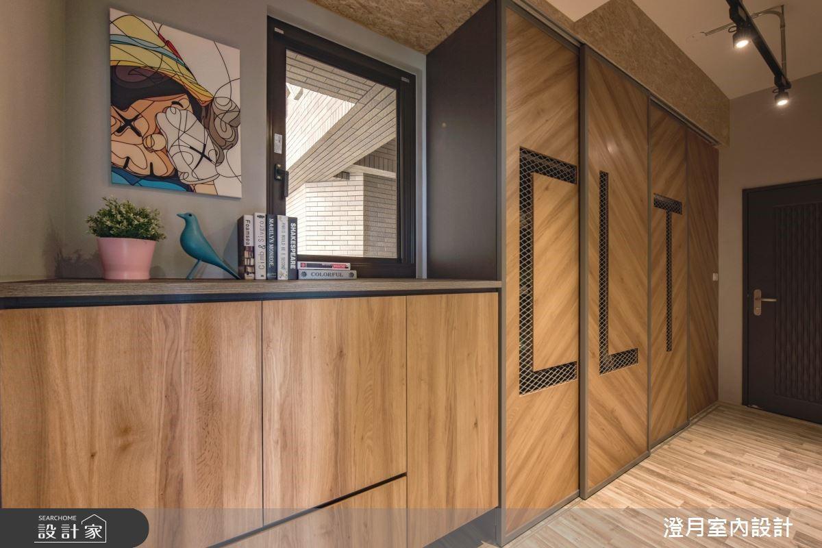 25坪新成屋(5年以下)_工業風玄關案例圖片_澄月室內設計_澄月_05之1