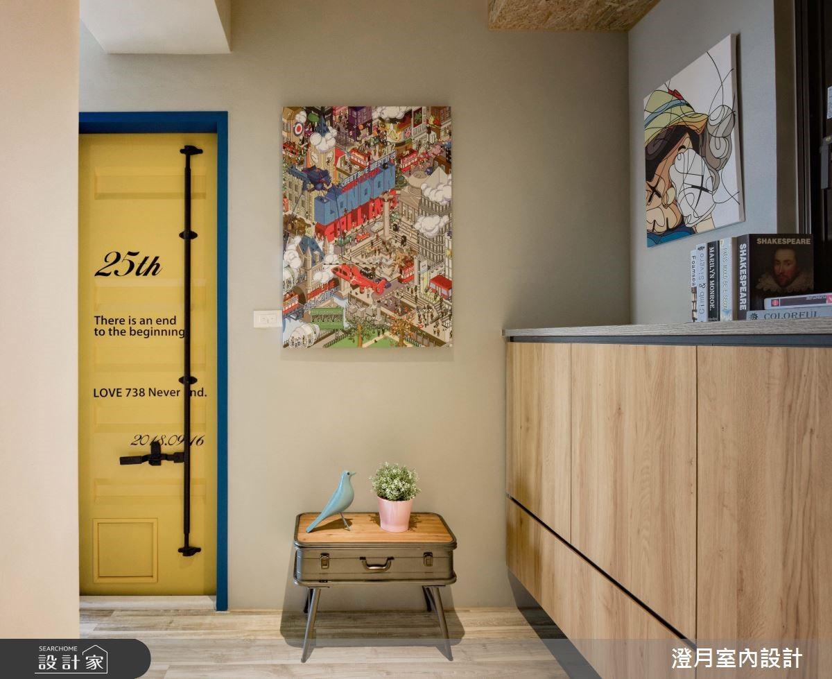 25坪新成屋(5年以下)_工業風玄關案例圖片_澄月室內設計_澄月_05之3