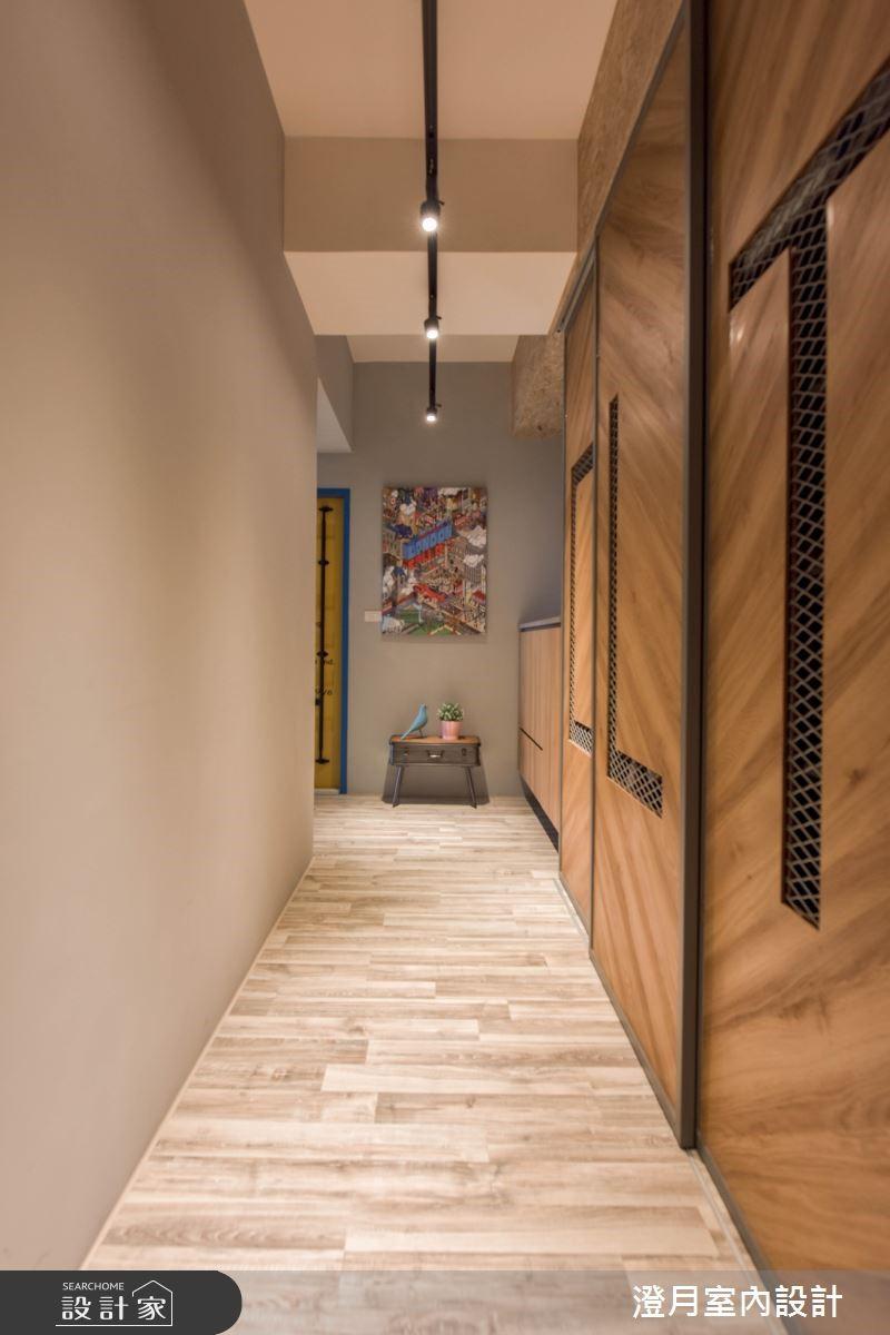25坪新成屋(5年以下)_工業風玄關案例圖片_澄月室內設計_澄月_05之2