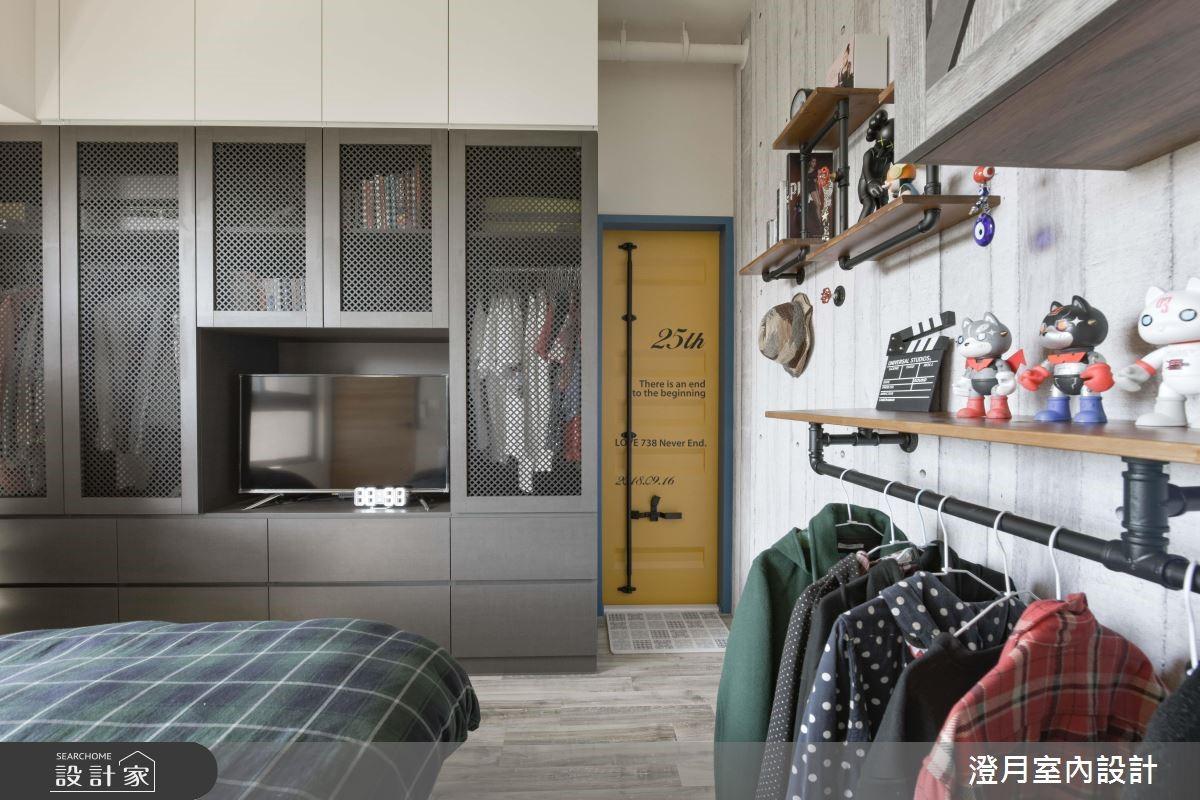 25坪新成屋(5年以下)_工業風臥室案例圖片_澄月室內設計_澄月_05之12