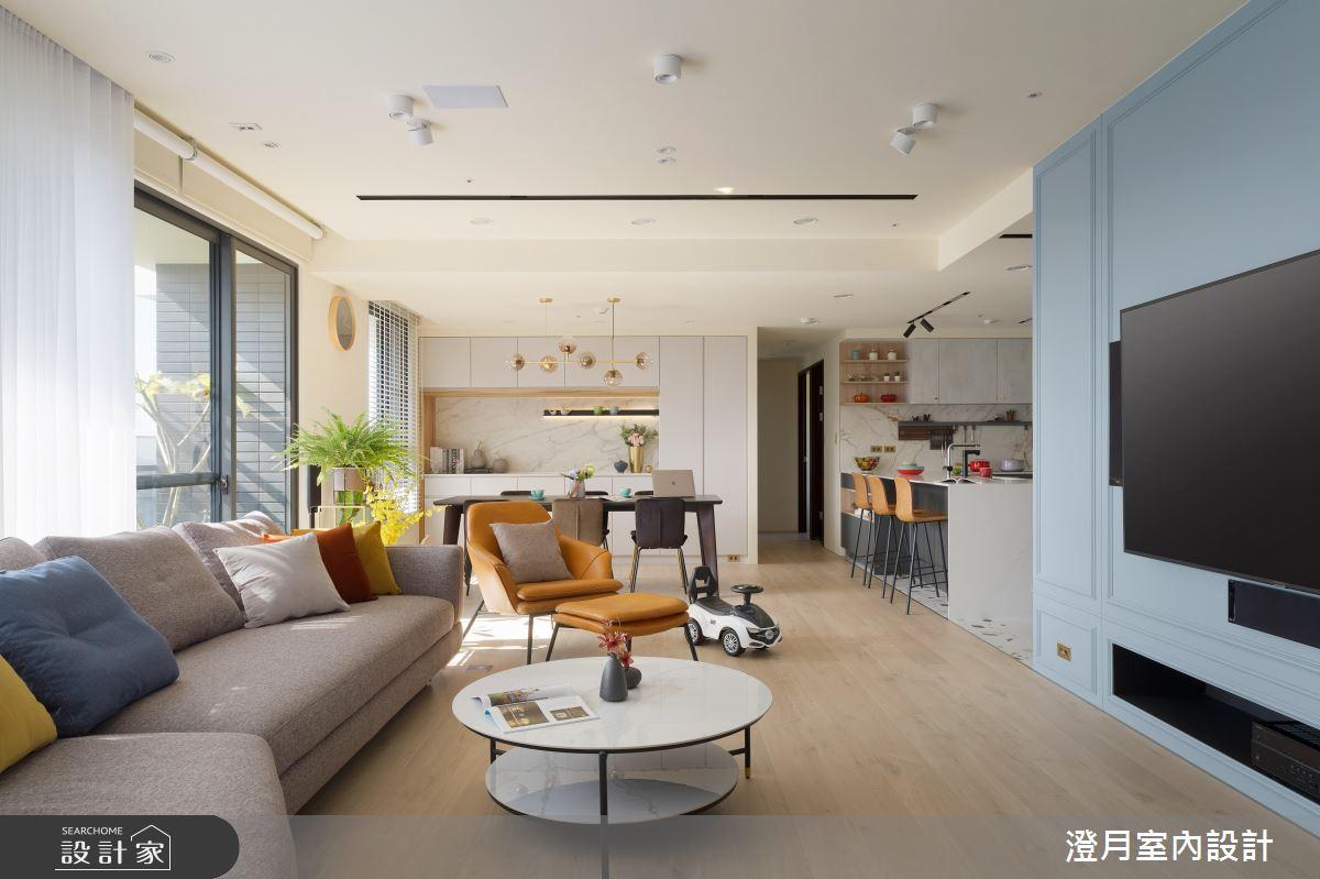 40坪新成屋(5年以下)_混搭風客廳案例圖片_澄月室內設計_澄月_08之3